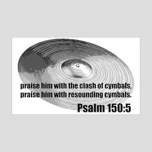 Psalm 150:5 - Christian Drumm 38.5 x 24.5 Wall Pee