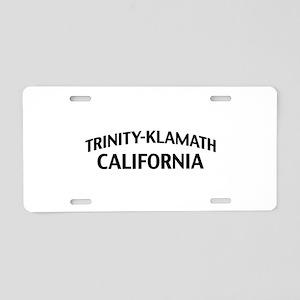 Trinity-Klamath California Aluminum License Plate