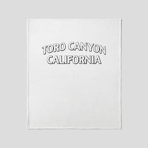 Toro Canyon California Throw Blanket
