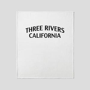Three Rivers California Throw Blanket