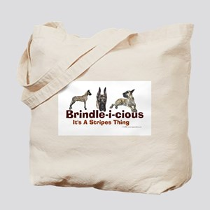 Brindle-i-cious 3 It's a Stri Tote Bag
