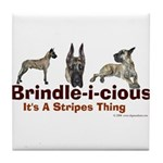 Brindle-i-cious 3 It's a Stri Tile Coaster