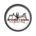 Brindle-i-cious 3 It's a Stri Wall Clock