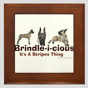 Brindle-i-cious 3 It's a Stri Framed Tile