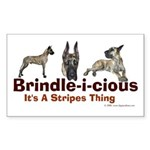 Brindle-i-cious 3 It's a Stri Sticker (Rectangular