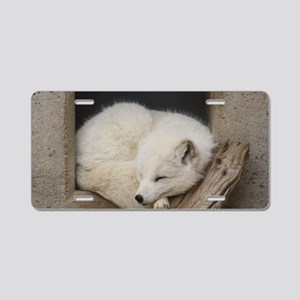 Sleeping corner Aluminum License Plate