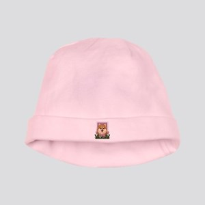 Mothers Day Pink Tulips Pom baby hat