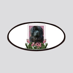 Mothers Day Pink Tulips Newfie Patches