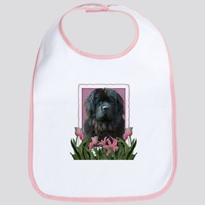 Mothers Day Pink Tulips Newfie Bib