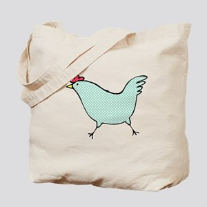 Polka Dot Chicken Tote Bag