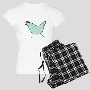 Polka Dot Chicken Women's Light Pajamas