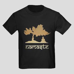 Buddha under Bodhi Tree Kids Dark T-Shirt