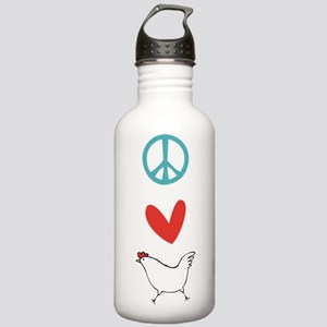 Peace Love Chickens Stainless Water Bottle 1.0L