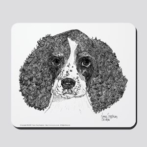 Spaniel Pup Pen and Ink Mousepad  (w)