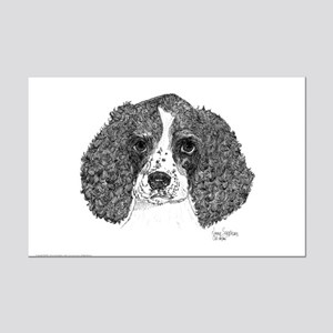 Spaniel Pen & Ink Mini Poster Print (w)