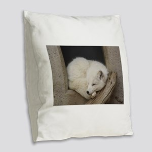 Sleeping corner Burlap Throw Pillow