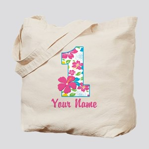 1st Birthday Tropical Tote Bag