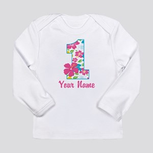 1st Birthday Tropical Long Sleeve Infant T-Shirt