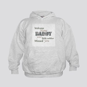 Welcome Home Daddy (Soldier) Kids Hoodie
