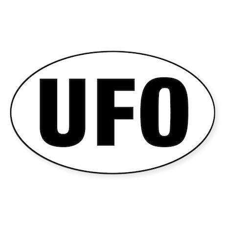 UFO Sticker (Oval)