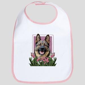 Mothers Day Pink Tulips Shepherd Bib