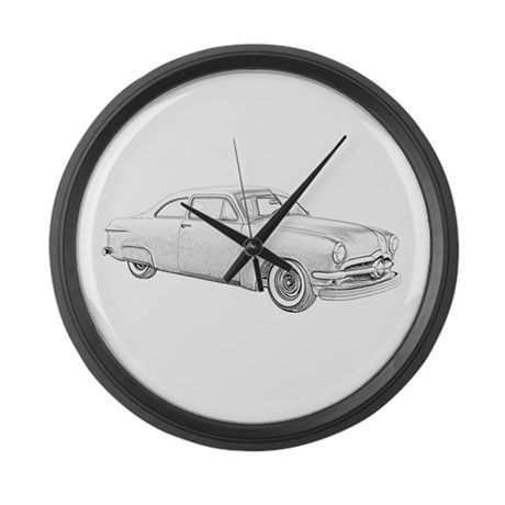 1950 Ford Coupe Large Wall Clock