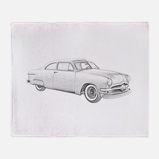1950 Ford Coupe Throw Blanket