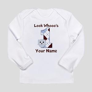 Look Whoo's 1 Boys Long Sleeve Infant T-Shirt