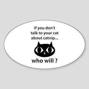 Catnip Sticker (Oval)