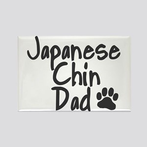 Japanese Chin DAD Rectangle Magnet
