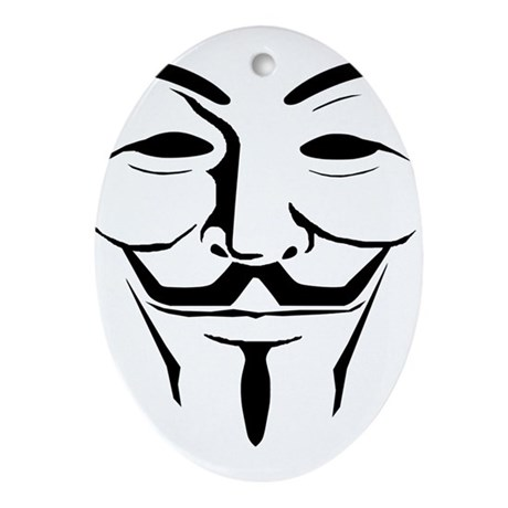 Guy Fawkes Day Ornament (Oval)
