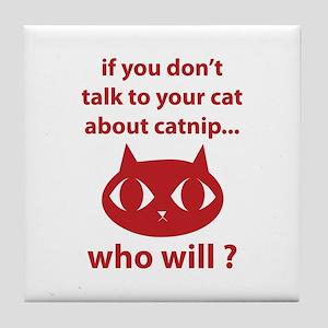 Catnip Tile Coaster