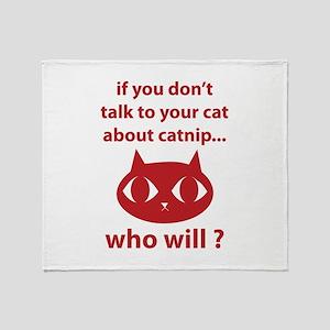 Catnip Throw Blanket