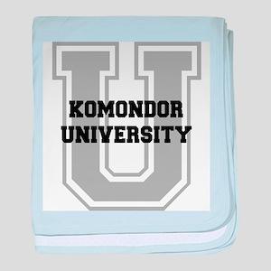 Komondor UNIVERSITY baby blanket