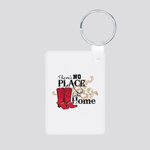 There's No Place Like Home Aluminum Photo Keychain