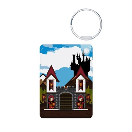 Medieval Knights & Castle Photo Keychain