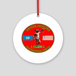 UN Liberia Ornament (Round)