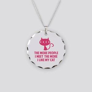 People I Meet Necklace Circle Charm