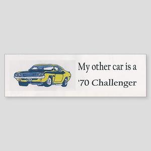 1970 Dodge Challenger Bumper Sticker
