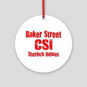 Baker Street CSI Ornament (Round)