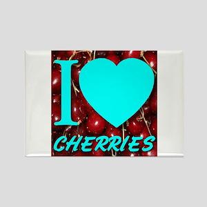 I (Heart) Cherries Rectangle Magnet