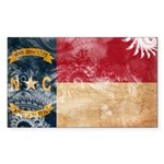 North Carolina Flag Sticker (Rectangle 10 pk)