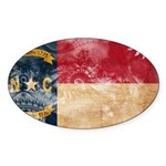 North Carolina Flag Sticker (Oval)