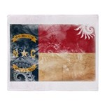 North Carolina Flag Throw Blanket