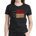 North Carolina Flag Women's Dark T-Shirt
