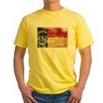 North Carolina Flag Yellow T-Shirt