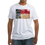 North Carolina Flag Fitted T-Shirt