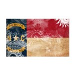 North Carolina Flag 38.5 x 24.5 Wall Peel