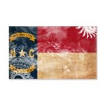 North Carolina Flag 22x14 Wall Peel