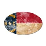 North Carolina Flag 38.5 x 24.5 Oval Wall Peel